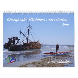 calendrier 2015 de Chesapeake Paddlers
