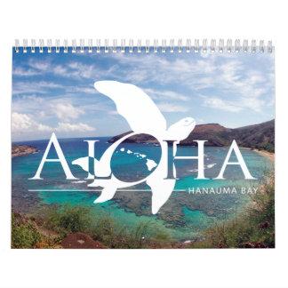 Calendrier 2015 d'espèce marine d'Hawaï