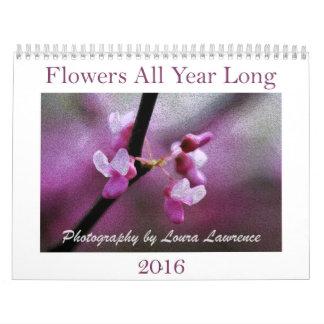Calendrier 2016 de fleurs tout au long de l'année