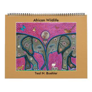 Calendrier africain de faune