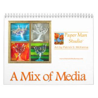 Calendrier d'art de médias mélangés