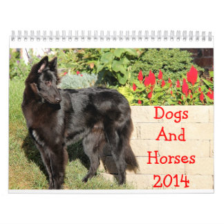 Calendrier de chevaux et de chiens 2014