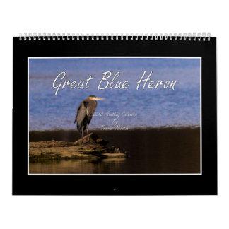 Calendrier de héron de grand bleu 2018 par Thomas