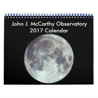 Calendrier de John J. McCarthy Observatory 2017