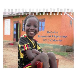Calendrier de l'orphelinat 2016 d'humaniste de