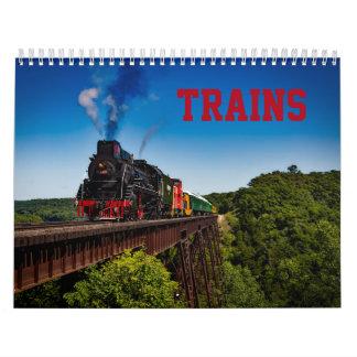 Calendrier de photo de train