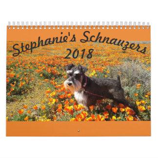 Calendrier des Schnauzers 2018 de Stephanies