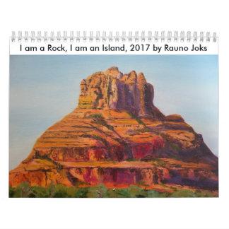 Calendrier Je suis une roche, je suis une île, 2017. par