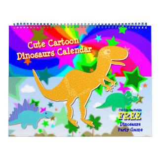 Calendrier mignon d'enfants de dinosaures de bande