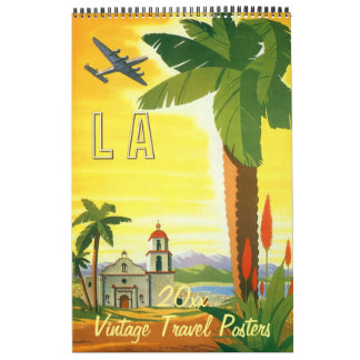 Calendrier Mural Affiches vintages de voyage international