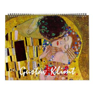 Calendrier Mural Art vintage Nouveau, beaux-arts de Gustav Klimt