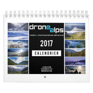 Calendrier Mural Drone Alps 2017
