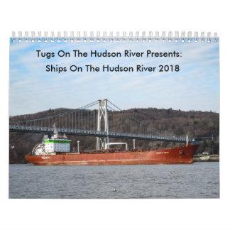 Calendrier Mural Les tractions subites sur le fleuve Hudson le