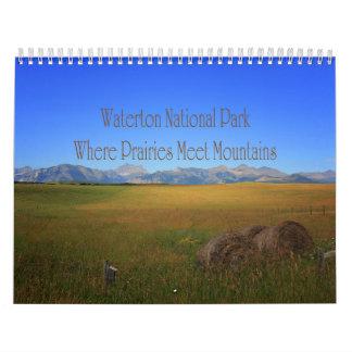 Calendrier Mural Montagnes de rassemblement de prairies de parc