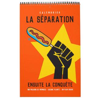 Calendrier Mural Québec humour anti-communiste socialiste satire 2