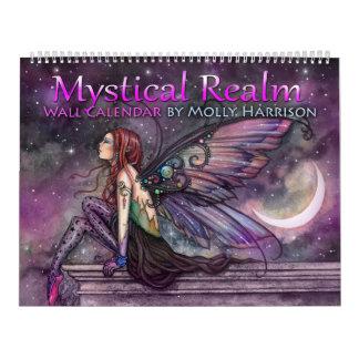 Calendrier mystique de fée d'imaginaire du royaume