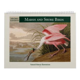 Calendrier Oiseaux 2018 du marais et de rivage d'Audubon