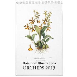 Calendrier Orchidées 2015