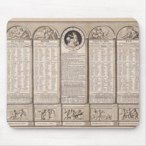 Calendrier r publicain 1794 tapis de souris zazzle for Surface minimum bureau code du travail