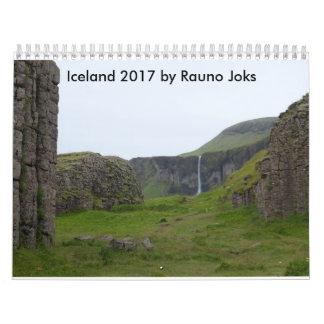 Calendriers Muraux L'Islande 2017 par Rauno Joks