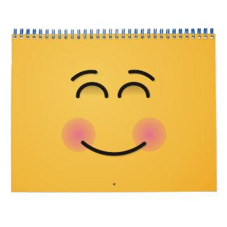 Calendriers Muraux Visage de sourire avec les yeux de sourire
