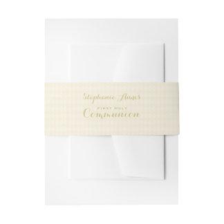 Calice de communion bandeau de faire-part