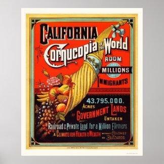 Californië - Hoorn des overvloeds van de Wereld Poster