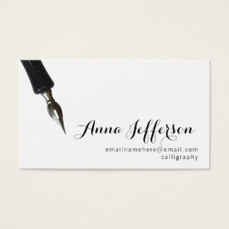 Calligraphie Cartes De Visite