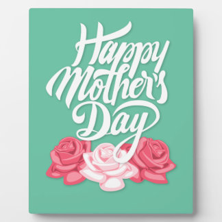 Calligraphie heureuse du jour de mère avec des plaque photo
