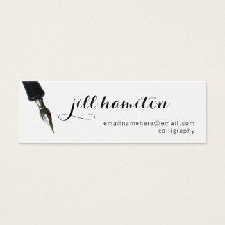 Calligraphie Mini Carte De Visite