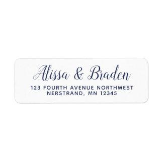 Calligraphie moderne - étiquettes de adresse de