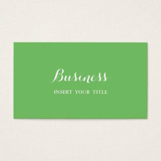 Calligraphique élégant à la mode minimaliste de cartes de visite