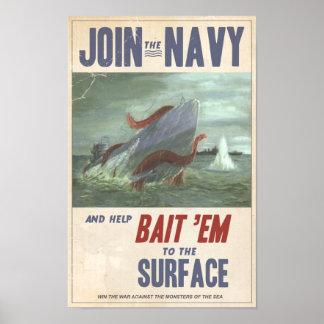 Calmar géant contre le sous-marin