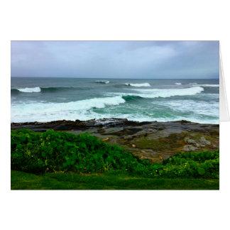 Calme de côte ouest avant la carte de tempête