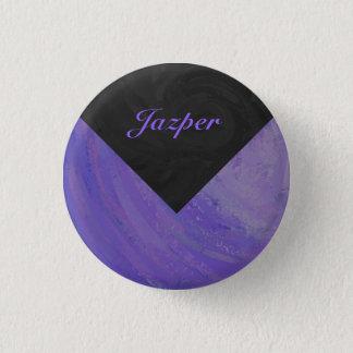 Calomnie de myrtille et monogramme noir badge rond 2,50 cm
