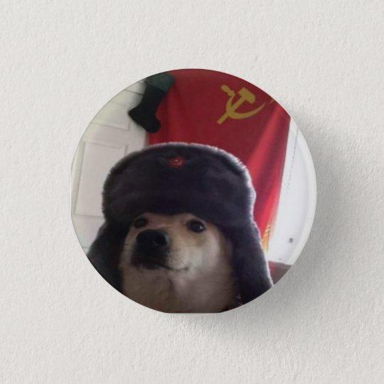 Camarade Doge le Doggo communiste Pupper Badge Rond 2,50 Cm