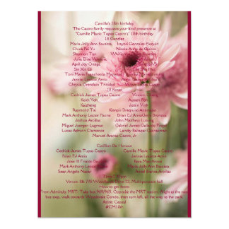 CAMILLE 18ème Carton D'invitation 16,51 Cm X 22,22 Cm