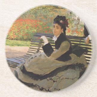 Camille Monet sur un banc de jardin - Claude Monet Dessous De Verre