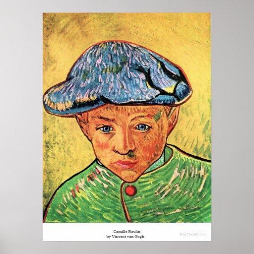 Camille Roulin door Vincent van Gogh Plaat