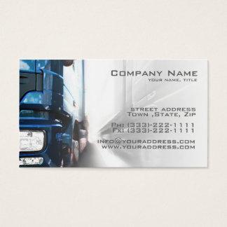 Camion bleu - carte de transport et de logistique