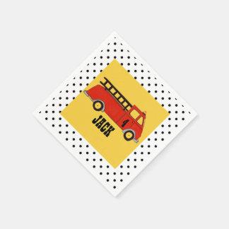 Camion de rouge de caserne de pompiers de bouche serviette en papier