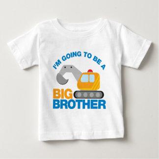 Camion défonceur allant être un frère t-shirt pour bébé