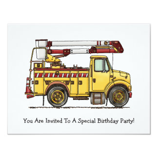 Camion mignon de récolteuse de cerise carton d'invitation 10,79 cm x 13,97 cm