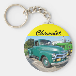 Camion vintage de Chevrolet Porte-clé Rond