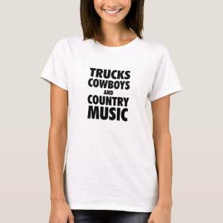 Camions, cowboys et musique country t-shirt