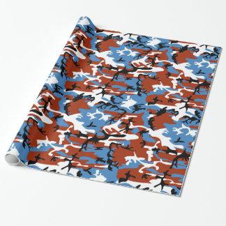 Camo patriotique papier cadeau