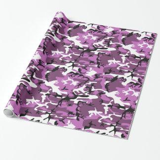 Camo rose et mauve papier cadeau