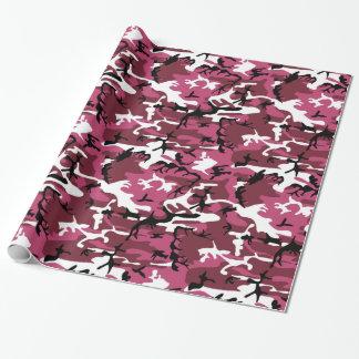 Camo rose Girly Papier Cadeau