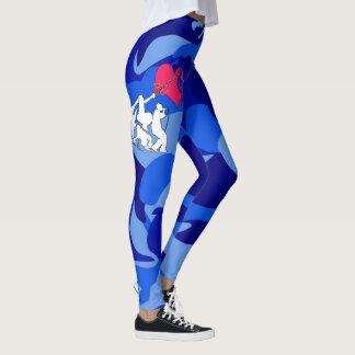 Camouflage de musique de quatre éléments leggings