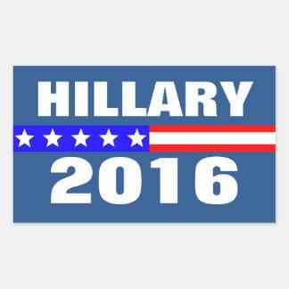 Campagne électorale présidentielle de Hillary 2016 Sticker Rectangulaire